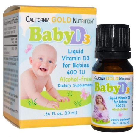 Витамин Д-3 для детей, Baby Vitamin D3, California Gold Nutrition, в к