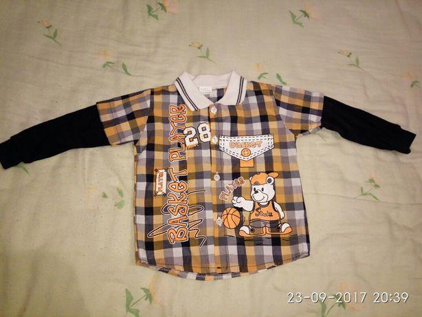 Новый.Костюм четвёрка.Kids clab.Джинсы,рубашка,желеточка,реглан.Турция