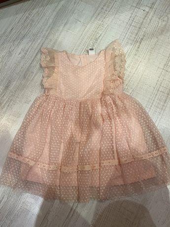 Платье на девочку 12-24 мес