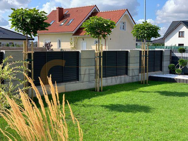 Bloczki gładkie betonowe ogrodzeniowe z betonu architektonicznego SLAB