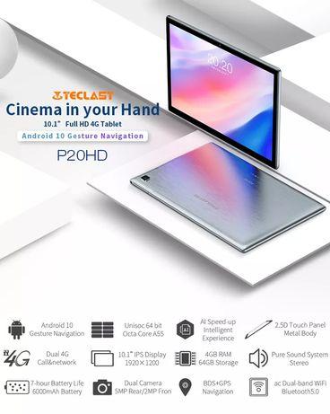 Планшет Teclast P20HD 4/64 Гб, 8 ядер, моб.сеть,стереозвук, чехол