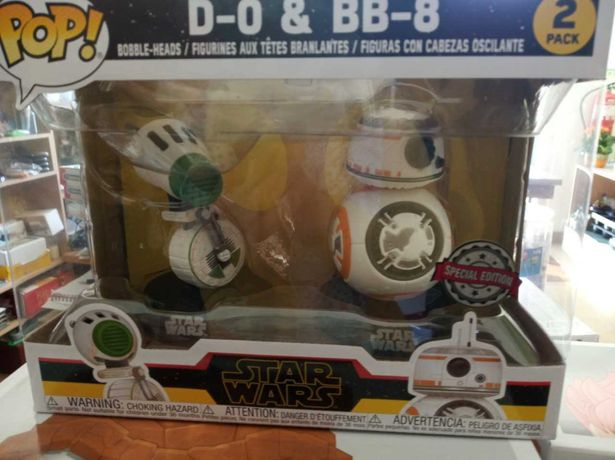 Pops Funko NOVOS Star Wars - Skywalker D-O and BB-8 Exclusive