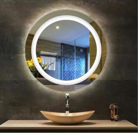 Lustro łazienkowe LED okrągłe fi 60x60 dotyk na wymiar Wysyłka GRATIS