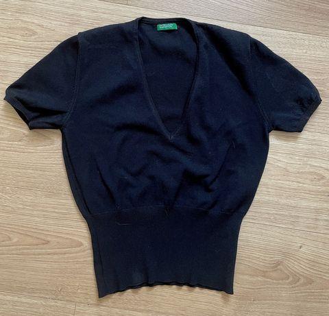 camisola com decote em V da Benetton