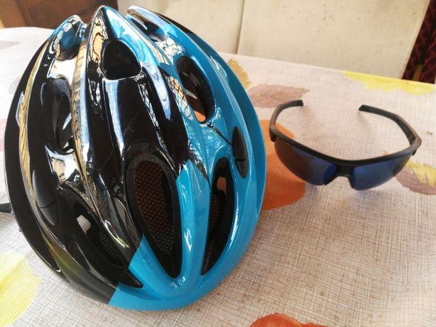 Kask rowerowy Kellys rozmiar L + okulary 3 stopień przyciemniania