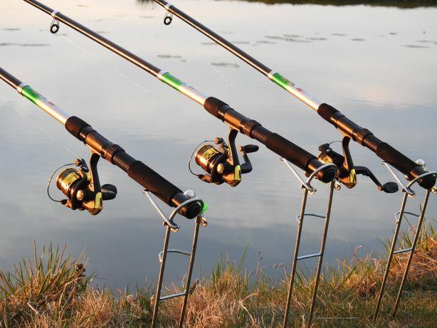 Спиннинги 2,7м в сборе с катушкой 3шт Рыболовный набор карась, карп
