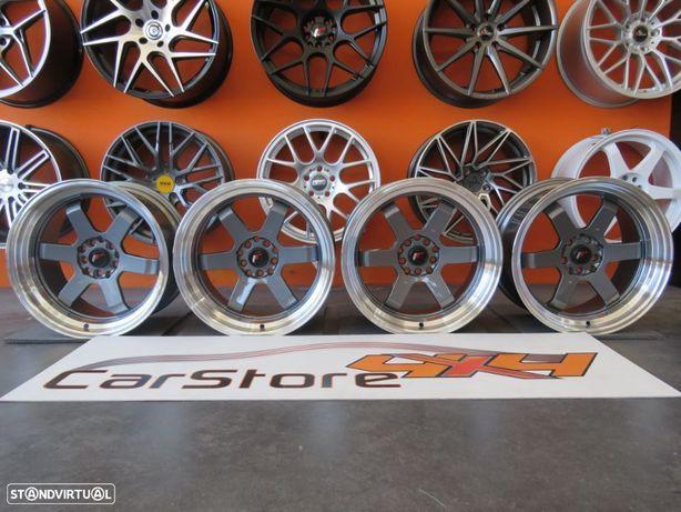 Jantes Japan Racing  JR12 17x9 ET25 5x100/114 Gun Metal w/Machined Lip