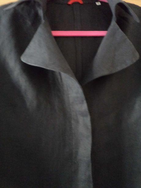 Piękna Lniana bluzka Otto Kern r.38 czarna