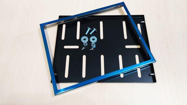 Рамка для мото номера Украины. Синяя. Подномерник. Мотоцикл скутер