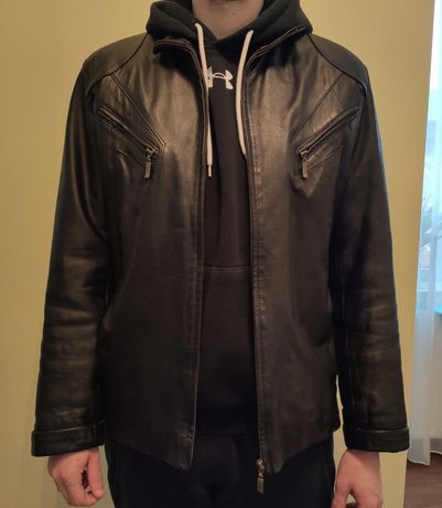 Мужская куртка из натуральной кожи размер S-M