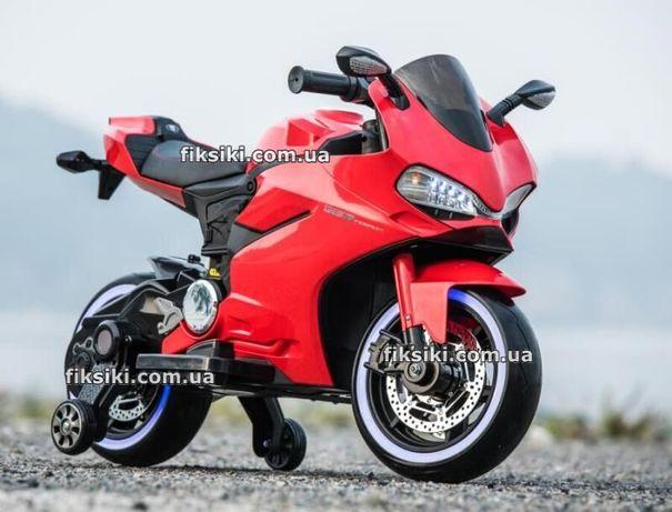 Детский мотоцикл электромобиль 4104 RED, Дитячий електромобiль