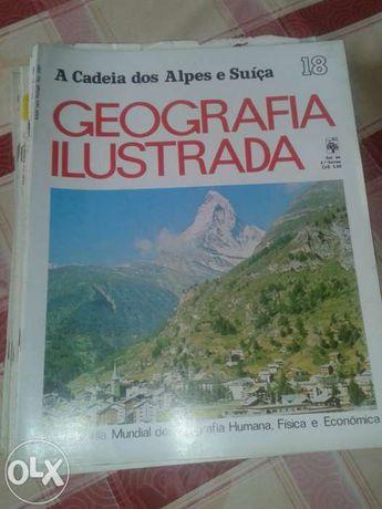 39 fascículos da geografia ilustrada editora abril cultural enciclop