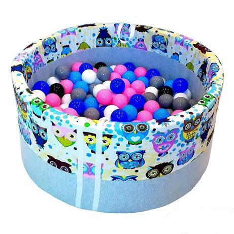 Сухой Бассейн. Бассейн с шариками. Разноцветный принт каркасов.