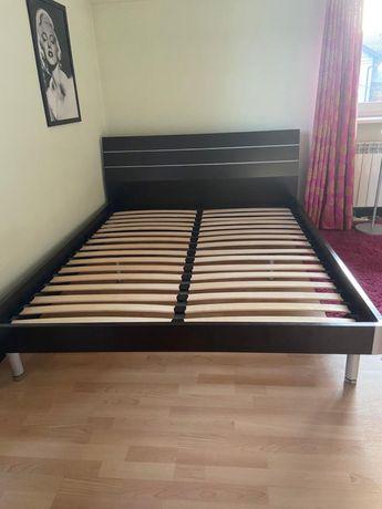 Zestaw komplet mebli łóżko, biurko, szafka i półki Wenge ciemny brąz