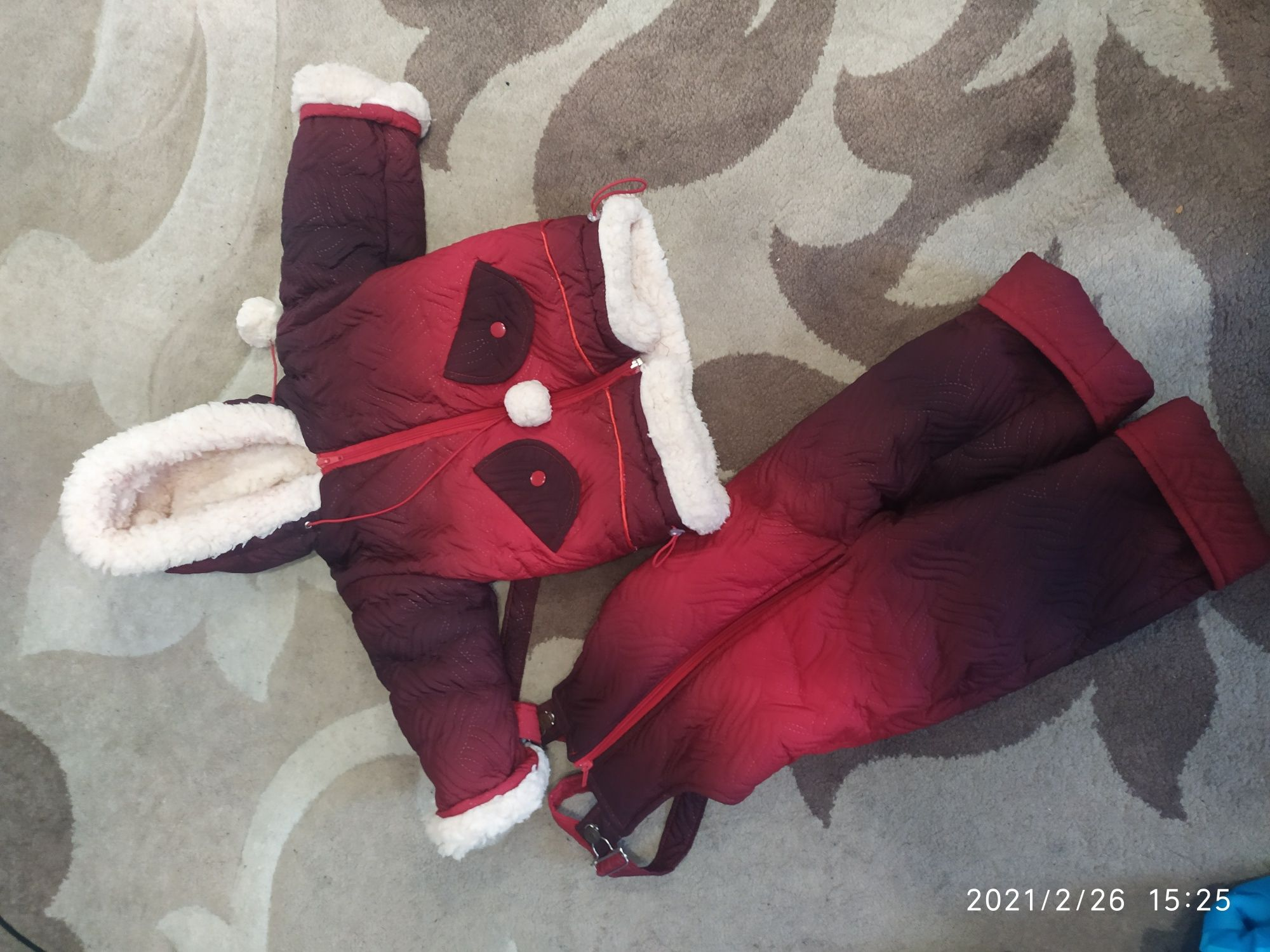Детский зимний комбинезон до года 1 год. На цегейке