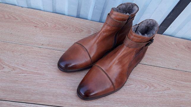 Daniel Hechter Германия зимние сапоги ботинки натуральный мех овчина