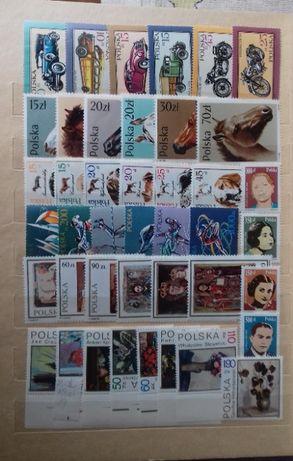 znaczki polskie mieszane zestaw konie