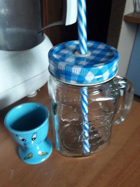 Kubek szklany zestaw