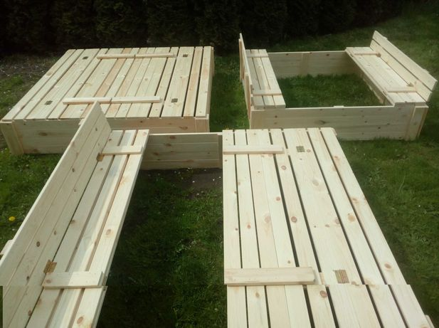 Piaskownica drewniana