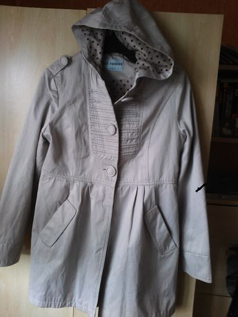 kurtka- bawełna 100%; płaszcz/ jak trencz; na podszewce, WYMIARY M/L