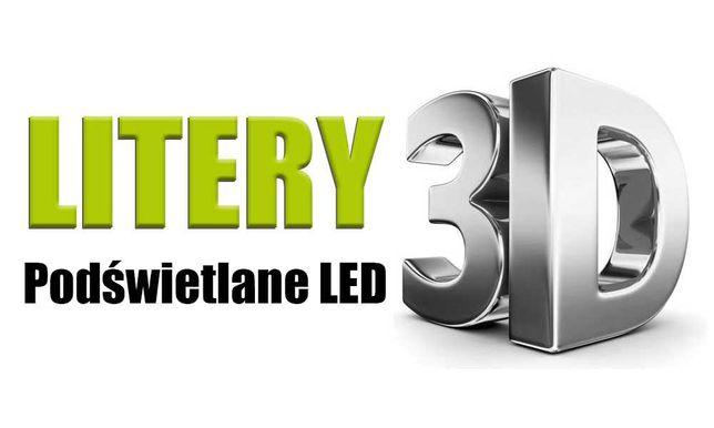 LITERY przestrzenne 3D Podświetlane LED - PRODUCENT