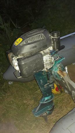 Мотор лодочный - гибрид 6,5 л.с., 4-х тактный, на ноге Ветерка.