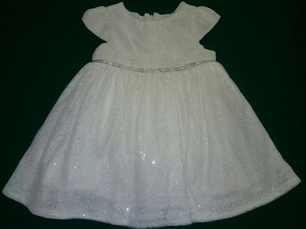 Sukienka na chrzciny lub inną uroczystość w komplecie z kurteczką r.74