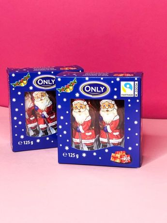 Only Шоколадні Діди Морози (в коробках) 125 грамм(10*12.5) Онли Онлі