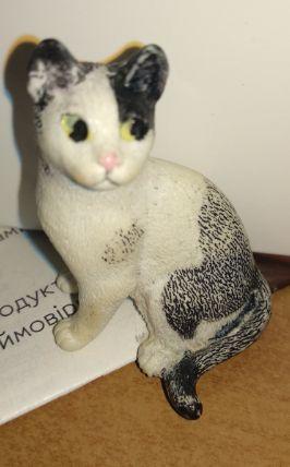 игрушка детская фигурка кошка кот белый счернвм пластик Шляйх Schleich