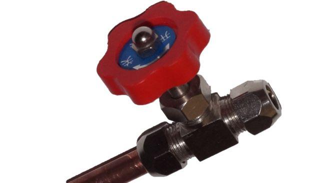 Zaworek iglicowy 8 mm metalowy np do akwarium,powietrza,wody,płynów