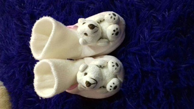 Носочки тапочки для девочки с мишками