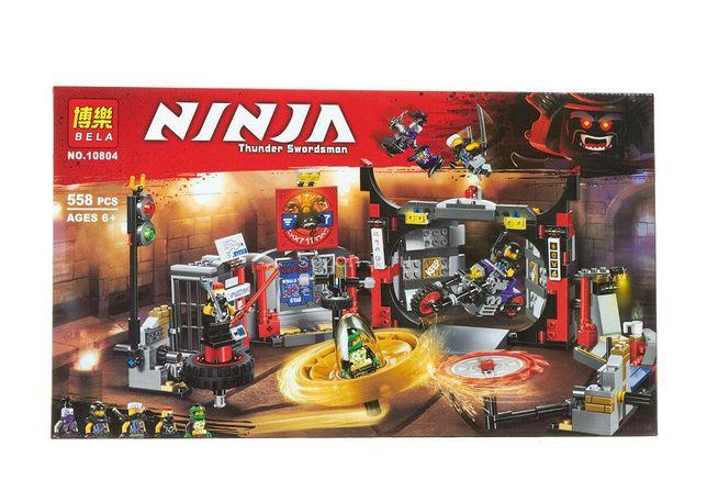 Конструктор Bela 10804 Ниндзяго Штаб-Квартира аналог Lego Ninjago 7064