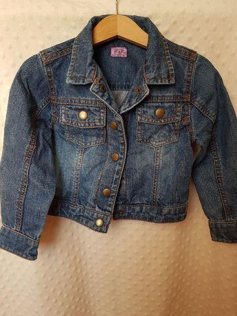 Kurtka jeansowa katana dziewczęca chłopięca rozmiar 98 F&F