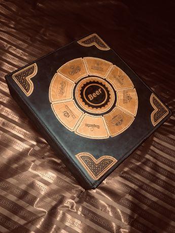Кожаный альбом для пивных крышек/ крончатых колпачков