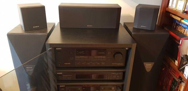 Wieża Sony: wzmacniacz, tuner, magnetofon, zmieniarka CD, 6 głośników