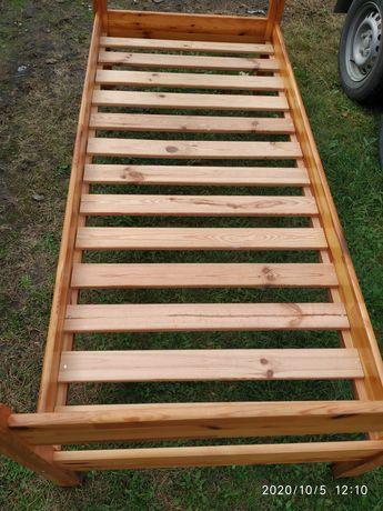 Łóżko dziecięce drewniane 180x80 że stelażem