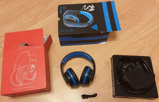 Słuchawki bezprzewodowe nowe Bluetooth Radio Nauszne Duże z Mikrofonem