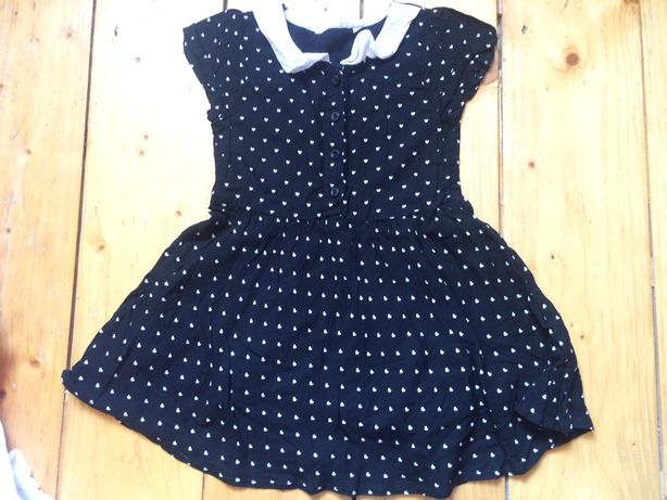 Стильное платье в сердечки hm 92-98