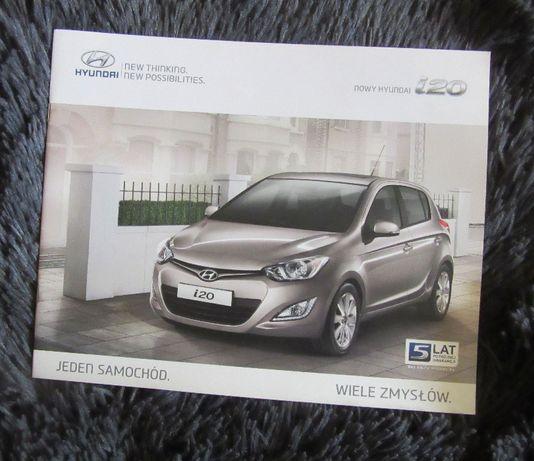 Broszury Folder prospekty motoryzacyjne Hyundai i20