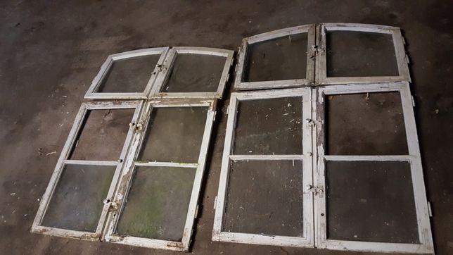 Ramy lustra, obrazów, skrzydła starych mazurskich okien. Loft, retro