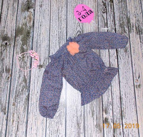 Красивая шифоновая блуза Primark для девочки 3-4 года, 98-104 см