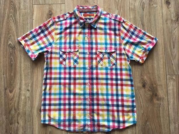 Koszula męska z krótkim rękawem rozmiar L