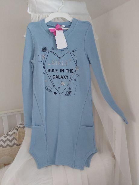 Новое! Теплое платье туника на рост от 146 до 164см