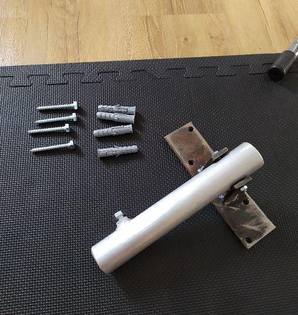 Krzyżak - plecy T-bar, trening pleców, zakończenie sztangi + mocowanie