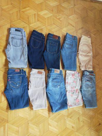 Jeansy firmowe 10 sztuk mega paka Levi's Zara Tommy Hilfiger River S