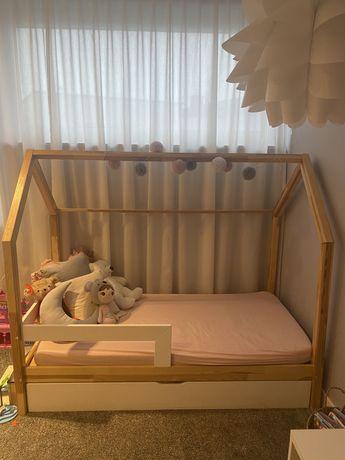 Łóżko dla dziecka, domek z szufladą