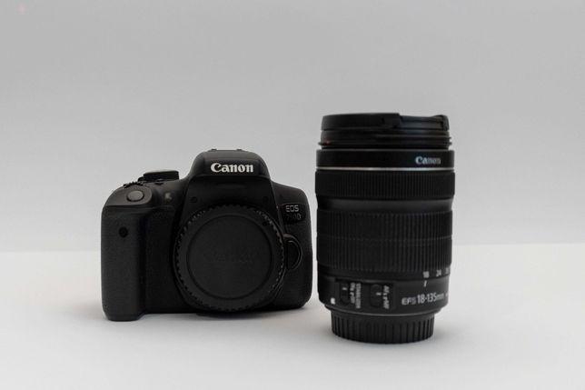 CANON 750D + EF-S 18-135mm + SD 16GB + Bateria + Filtro ND/UV +Parasol
