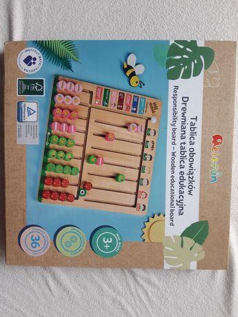 Nowa drewniana Tablica obowiązków Tablica motywacyjna dla dzieci