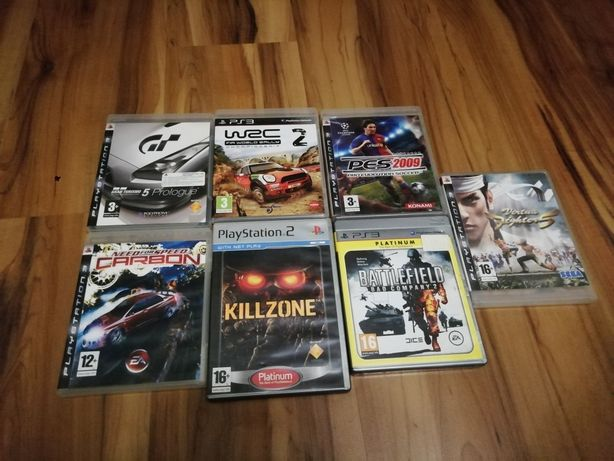 Playstation 3 2 battlefield kullzone need for speed grant turismo gry