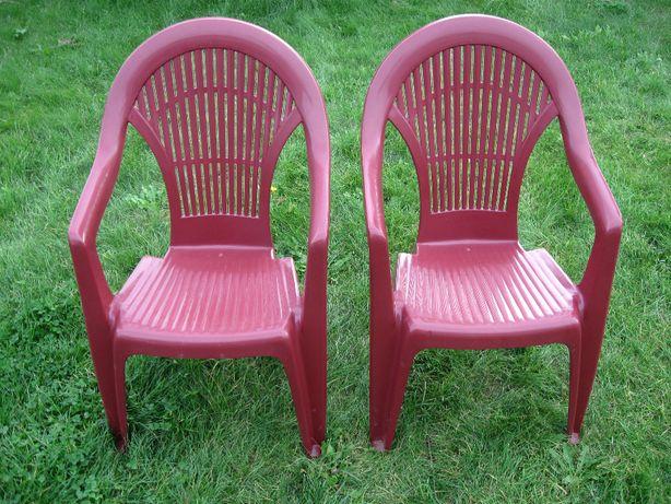 Dwa krzesło fotel balkonowe plastikowe ogrodowe cena za 2 PROGARDEN
